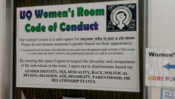 women's room sign
