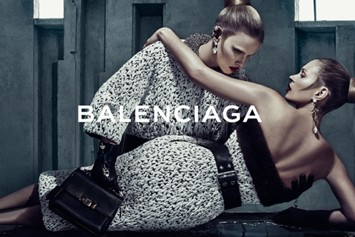 Lara Stone and Kate Moss for Balenciaga AW15