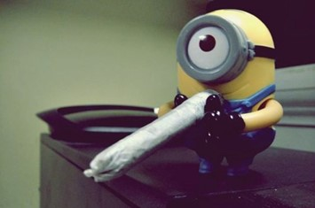 Minion getting stoned