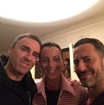 Raf Simons, Phoebe Philo and Marc Jacobs