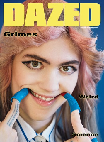 Grimes wears Miu Miu on Dazed's Autumn/Winter 2015 issue