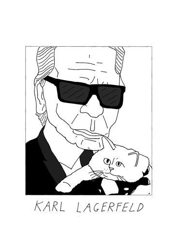 Badly drawn designers Karl Lagerfeld @badlydrawnmodels