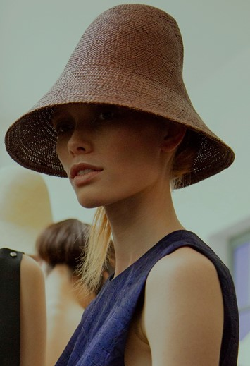 Backstage at Jil Sander SS16
