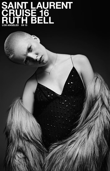 Ruth Bell for Saint Laurent Cruise 2016