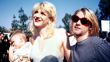 Courtney Love and Kurt Cobain circa 1992