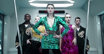 Still from Balmain x H&M campaign film Kendall Jenner