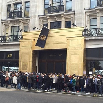 Balmain H&M chaos in London