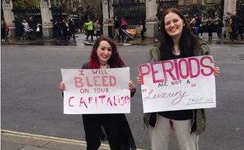 tampon tax protest