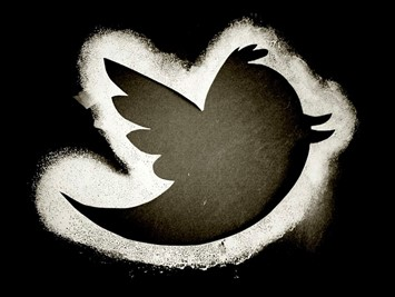 Twitter logo in black