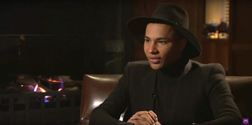 Olivier Rousteing on BBC Newsnight