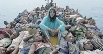 M.I.A in her new self-directed visual for 'Borders'