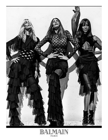 Claudia Schiffer, Cindy Crawford and Naomi Campbell for Balm