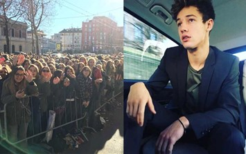 Cameron Dallas Milan crowds fans