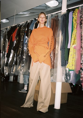 Backstage at VETEMENTS SS16 Pierre-Ange Carlotti
