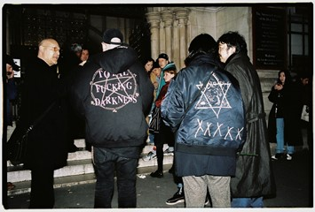 Yu Fujiwara outside Vetements AW16 on the streets Paris