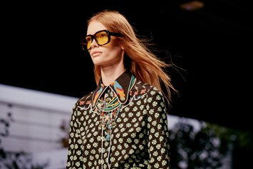 A shirt from the Gucci Spring Summer 2016 collection featuri