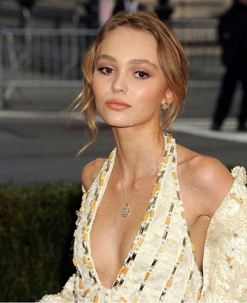 Lily-Rose Depp at the Met Gala 2016 Chanel
