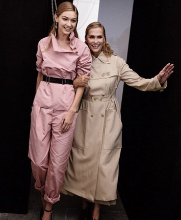 Gigi Hadid and Lauren Hutton at Bottega Veneta SS17