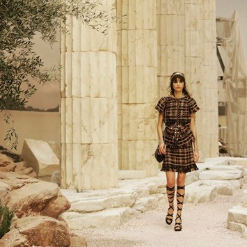 chanel greece cruise ancient greek landscape show