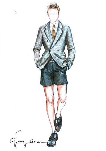 Emporio Armani Menswear S/S13 sketch courtesy of E