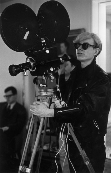 The Factory, New York, 1968. Andy Warhol filming '