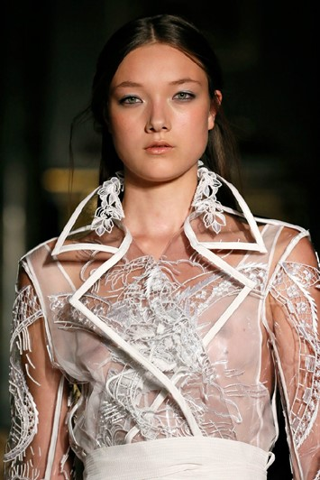 New face Yumi Lambert from IMG in the Pucci show