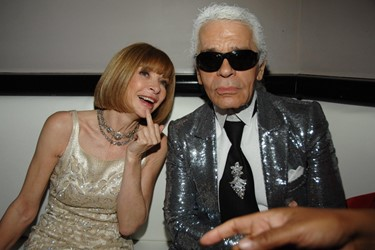 Karl and Anna Wintour