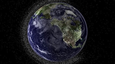 4) a view of earth and all the crap surrounding it
