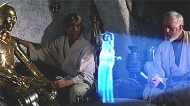 Hologram techjust in time for the new Star Wars