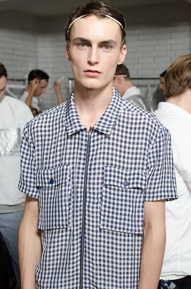 Richard Nicoll, SS15 Mens collection, Dazed backstage