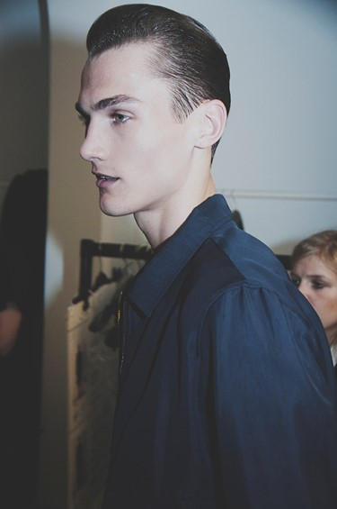 Joseph SS15 Mens collections, Dazed backstage