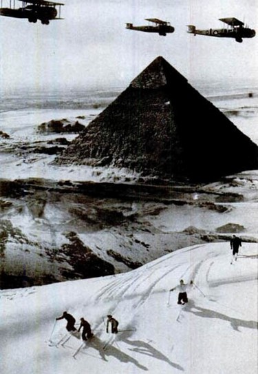 skiing in egypt 1938