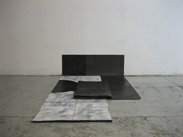 Dan Shaw-Town Untitled, 2011 Graphite and spray en