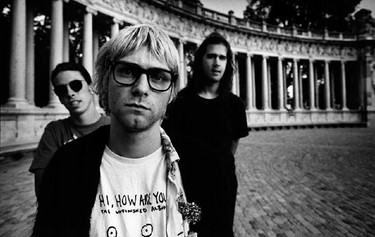 Kurt Cobain with Nirvana