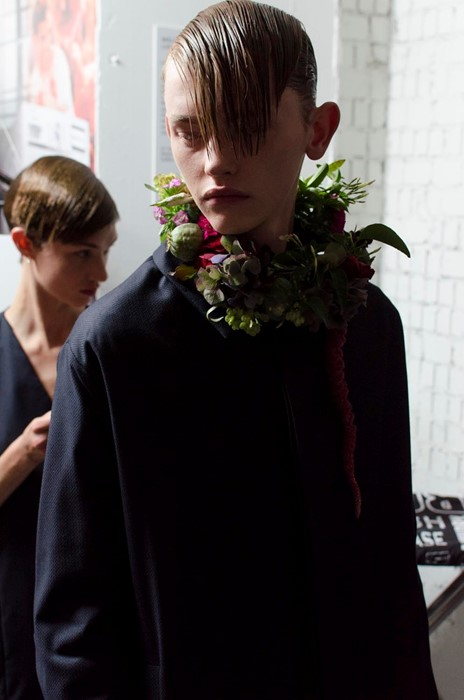 Matthew Miller SS15 LC:M Dazed backstage
