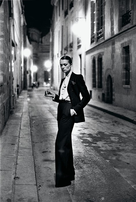 Yves Saint Laurent, French Vogue, Rue Aubriot, Paris 1975