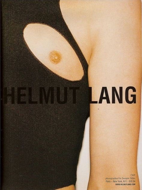Helmut Lang SS04 campaign ad Juergen Teller nipple