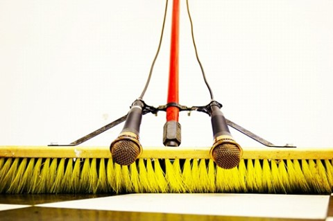 10. Broom sweep sound thing