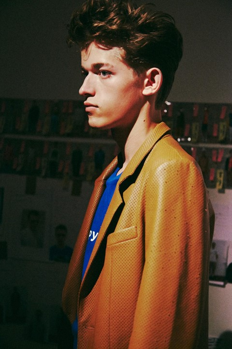 Gosha Rubchinskiy SS15 Mens collections, Dazed backstage