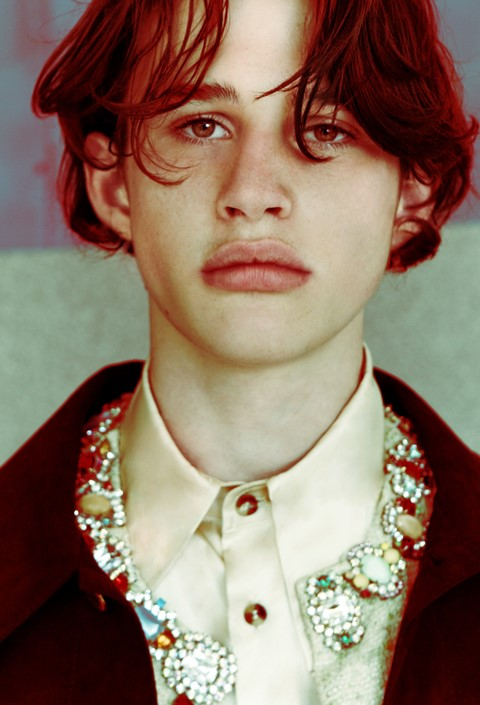 Liam Gardner (Select) wears Grace Wales Bonner, Dazed CSM