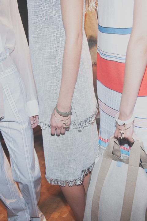 Backstage at Paul Smith SS15