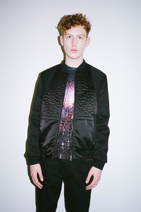 Les Benjamins AW15 Presentation Textured Nylon Space Print