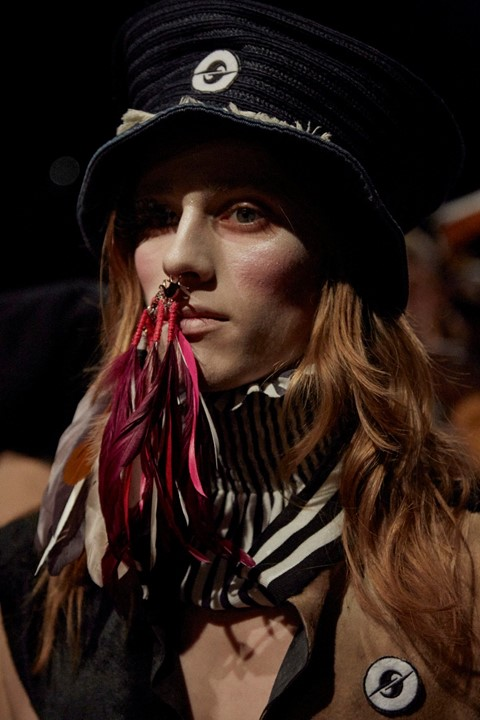 Gypsy Sport AW15 Dazed womenswear nose ring feather