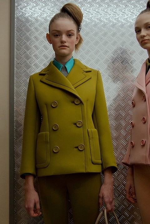 Willow Hand backstage at Prada AW15, Dazed new faces