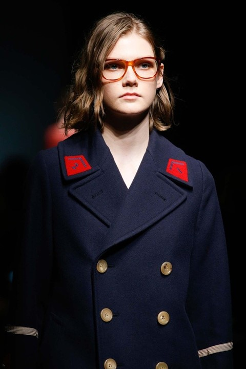 Marland Backus (FM) at Gucci AW15