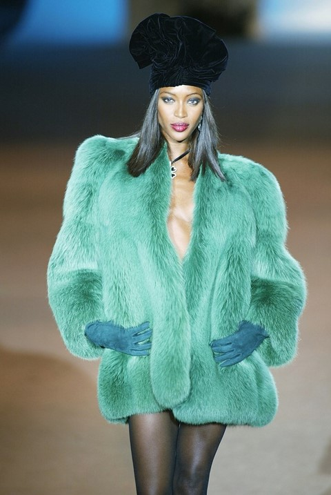 Naomi Campbell at Yves Saint Laurent's final couture show