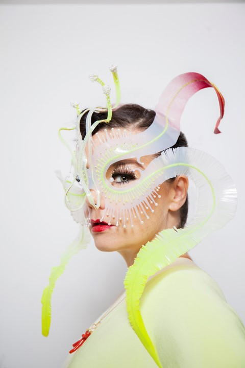 james merry bjork music mask fashion