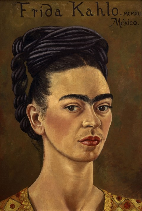 Kahlo, Frida, Self-Portrait with Red and Gold Dress, 1941, O