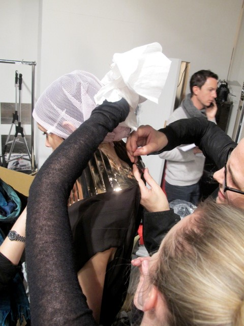 Fitting the Shaun Leane showpiece. Photography by