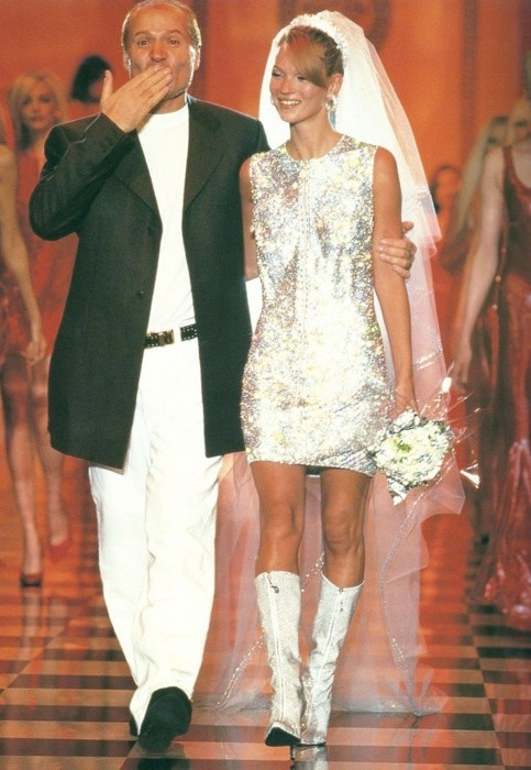 Kate Moss & Gianni Versace